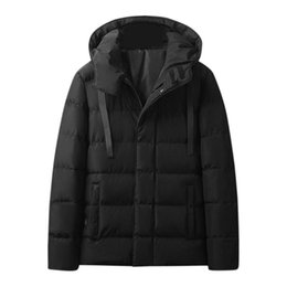 High Heat Coating Australia - Winter Men Electric Heating down cotton Coat USB Thermal Warm Outdoors Antistatic Windproof Hooded High quality Casual Jackets