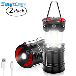 $enCountryForm.capitalKeyWord Australia - Rechargeable LED Camping Lantern, Brionac Newest Magnetic Lantern Tent Light 4-In-1 Flashlight with USB Cable, Best for Emergency