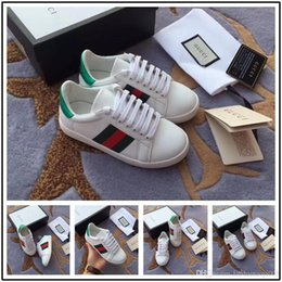 6cc9729c3 Running Shoes Picture Australia - 19ss Spring and Autumn New leather boys  girls Shoes Stripe Bee