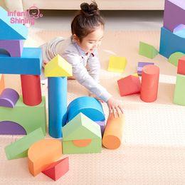 $enCountryForm.capitalKeyWord Australia - Infant Shining Building Blocks Baby Big Blocks Educational Toys Large For Children Eva 50pcs Pretend Play Game Foam ToysMX190820