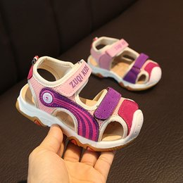 Sandals For Infant Boys NZ - Toddler Infant Baby Shoes Children Sandals For Girl Boy Casual Spring Printed Shoe Closed Toe Beach Hook&Loop Sneakers #YL3