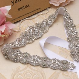 Wholesale MissRDress Silver Crystal Bridal Dress Sashes Belt cm Length Beads Rhinestones Sashes And Belt For Wedding Dresses YS834