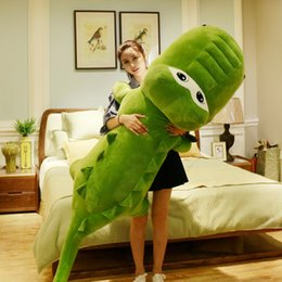 $enCountryForm.capitalKeyWord Australia - 2019 New Giant Cartoon Alligator Plush Toy Big Stuffed Animal Crocodile Plush Doll Pillow for Children Friend Gift Decoration DY50636