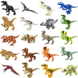 small plastic blocks NZ - Dinosaur Building Blocks Series Toys 16 Designs Children Puzzle Toy Assembly Block Small Particle Building Toy Plastic Kid Toy 50 Pieces DHL