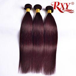 Red human haiR coloR weave online shopping - RXY j Burgundy Peruvian Hair Bundles Straight Human Hair Bundles j Wine Red Peruvian Straight Hair Weft Inch