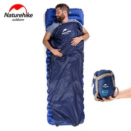 Naturehike ultralight outdoor sleepiNg bag online shopping - Naturehike Splicing Sleeping Bag for Envelope Ultralight Adult Portable Outdoor Camping Hiking Isolation Hotel Sleeping Bags Spring Autumn