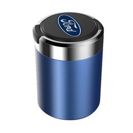 $enCountryForm.capitalKeyWord UK - Fashion Car Ashtray Garbage Coin Storage Cup Container LED Light Cigar Ash Tray for Ford Car Cup Holder Auto Accessories