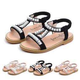 Sandals For Infant Boys Australia - MUQGEW Summer Baby Girls Shoes Toddler Infant Kids Pearl Crystal Single Princess Roman Shoes Sandals For Children Girl Black