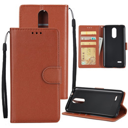 Wholesale For LG K8 Wallet PU Leather Case Cover Pouch with Card Slot Kickstand Dust and fall protection Cell Phone Case