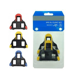 Hot Road Bicycles Australia - Hot Sale Road Bicycle Self-locking Cleats Cycling Shoes Accessories Bike Pedal Lock Card SM-SH11 SPD-SL Red Yellow Bike Shoes Lock