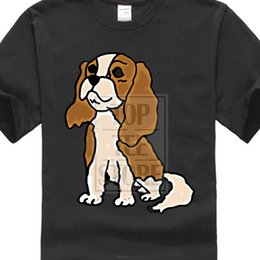 $enCountryForm.capitalKeyWord Australia - Top Quality 2017 New Brand Men's Cavalier King Charles Spaniel T Shits Printing Short Sleeve Casual O - Neck Cotton Couple