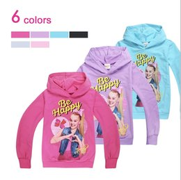 $enCountryForm.capitalKeyWord Australia - happy JOJO Siwa Hoodies Long sleeve Pullover Big Kids clothing 6 Colors Junior's Hooded Coat Terry Cotton Spring Autumn 2019 Free DHL