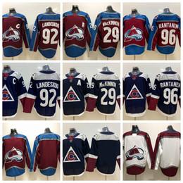 419934c43 2019 New Alternate Colorado Avalanche Hockey Jersey 29 Nathan MacKinnon 92  Gabriel Landeskog 96 Mikko Rantanen Stitched Home Burgundy Jersey