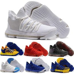 Lowest Kd Shoes Australia - Latest Zoom KD 10 Anniversary PE Oreo Red Men\\'s Casual Shoes KD 10 X Elite Low Kevin Durant Casual Shoes top sale wholesale