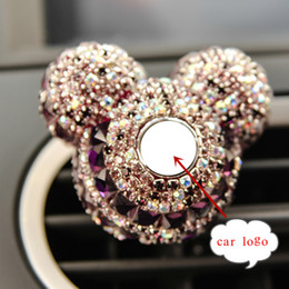 Car Decorations Diamonds Australia - Luxury Car Logo perfume Diamond Air conditioner Outlet clip decoration Car Air Freshener Car Styling Lady Perfumes 100 Original