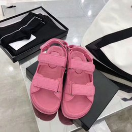 Fabric Boutique Australia - 2019 spring high quality ladies sandals boutique travel simple thick bottom suede suede fashion brand sexy open toe ladies hollow casual qh