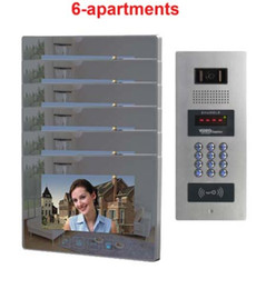 "$enCountryForm.capitalKeyWord NZ - ZHUDELE New Arrival Building Multi-apartment 7"" TFT Monitor Video Door Phone Video Intercom System for 6 Homes Password&ID Card"