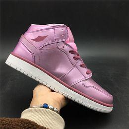 Cherry Blossom Fabric Australia - 2019 TOP Basketball Shoes 1s New Fashion Designer Steakers White Cherry Blossoms Womens Sports Shoes 36-40