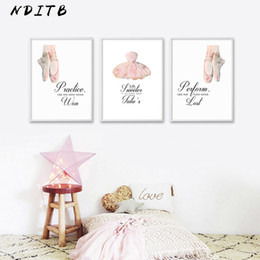 Dance art painting online shopping - Ballet Dancing Wall Art Canvas Poster Nursery Print Motivational Quotes Painting Wall Picture Baby Girls Bedroom Decoration