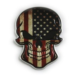 modified sticker cars UK - Car Halley Skull Car Stickers Modified Metal Personality Body Sticker Tail Sticker Demon Funny Decorative Sticker Side Label 02