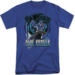 Tall Tee Men Canada - Power Rangers Tall T-Shirt Blue Ranger Royal Tee