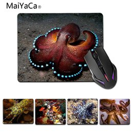 rubber octopus NZ - MaiYaCa New Printed octopus coral High Speed New Mousepad Size for 180x220x2mm and 250x290x2mm Small Mousepad