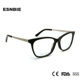 097c3575477 ESNBIE Original Acetate Eyeglasses Women Frames Eyeglass For Mens Designer  Eyewear Grade Woman Glasses Optical Frames Elegant