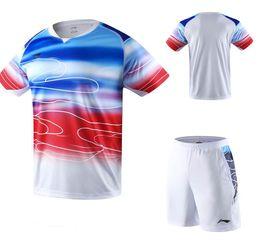 $enCountryForm.capitalKeyWord Australia - 2019 new Li Ning badminton T-shirt Su Diman Cup Guo Yu contest clothing men women quick-dry short-sleeved competition tennis shirt shorts