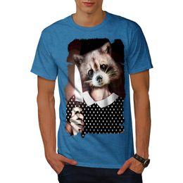 98f0aced70 Wellcoda Raccoon Girl Sweet Mens T-shirt, Cute Lady Graphic Design Printed  Tee Men Women Unisex Fashion tshirt Free Shipping