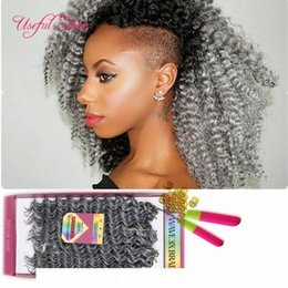 brazilian crochet braiding hair UK - H 10inch Freetress Preloop Crochet Hair Extensions Brazilian Hair Bundles Pre Looped Savana Jerry Curly Synthetic Braiding Hair For Us