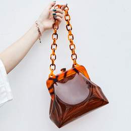 $enCountryForm.capitalKeyWord Australia - Ins Pvc Clear Jelly Acrylic Chains Shoulder Bags For Women 2019 Acrylic Clip Handbags Lady Girls Design Messenger Bags Shell Sac J190614