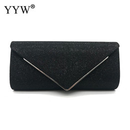 $enCountryForm.capitalKeyWord Australia - Korean Black Women'S Bag Envelope Clutch Simple Glitter Ladies Wedding Bags Handbags Bolsas Retro Evening Bags For Women Purse