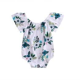 $enCountryForm.capitalKeyWord Australia - Newborn Baby Girl Flower Butterfly sleeves Romper Jumpsuit Sunsuit Outfits