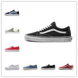 hi canvas shoes 2019 - Cheap Designer Canvas Sneakers Top Quality Old Skool SK8 Hi Slip On Men Women Skateboard Shoes Black CHECKERBOARD Fashio