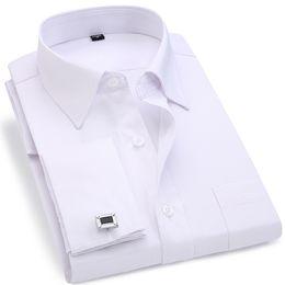 ecdd7d63b42 Men French Cufflinks Shirt 2018 New Men s Stripes Shirt Long Sleeve Casual  Male Brand Shirts Slim Fit French Cuff Dress Shirts