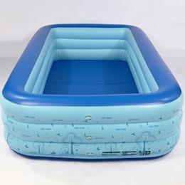 Çocuk Piscine Yüzme Havuzu Şişme Havuzlar Yaz Çocuklar Için Açık Piscina Etkinlik Bebek Havuzu toptan 2019 yeni stil indirimde