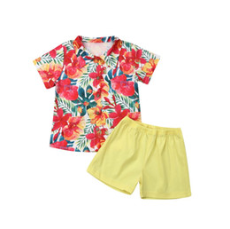 $enCountryForm.capitalKeyWord Australia - 2019 New Hot Sale Latest Summer Fashion 2pcs Toddler Kids Baby Boy Clothes Outfits Floral Print Short T-Shirt+Shorts Pants