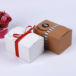 cookies biscuits gift packing NZ - Kraft Paper Package Boxes Party Gift Pack Box For Biscuits Cookie Handmade Soap Bakery Candy