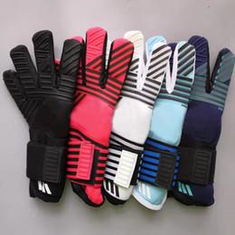 Unisex Calcio Guanti Portiere donne degli uomini ispessito lattice Calcio Goalie Gloves bambini leggero antiscivolo custode di obiettivo Glove in Offerta