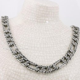 "unique halloween gifts NZ - Pop Fashion Goood4store 18"" ~ 36"" 316L Stainless Steel Solid Mens Necklace Chain 5A021N Free Shipping Customize length Unique Gift"