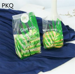 Green Plastic Gift Bags Australia - 500pcs Green Frosted Plastic Bag For Cookie Wedding Birthday Party Favors Biscuits Candy Gift Packaging Bags