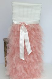 $enCountryForm.capitalKeyWord NZ - 2019 Blush Pink Tiers Tulle Wedding Chair Sashes Romantic Beautiful Chair Covers Cheap Custom Made Wedding Supplies C04