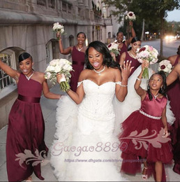 Hot up skirt dress online shopping - 2019 Hot African Nigeria Mermaid Wedding Dresses Off Shoulder Crystal Beaded Tiered Ruffles Court Train Custom Plus Size Formal Bridal Gowns