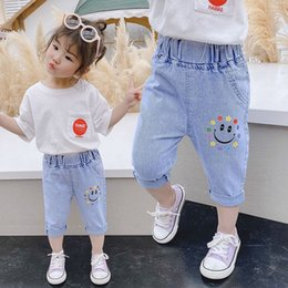 tutu length age UK - Girls' summer Capri fashionable 3 casual for children aged 20201-7 casual pants jeans and jeans fashionable girls' pants