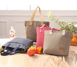 large canvas clutch Australia - 1Korean Version Of The New Canvas Lunch Bag Insulation Board Packer Zipper Fresh Ice Bag