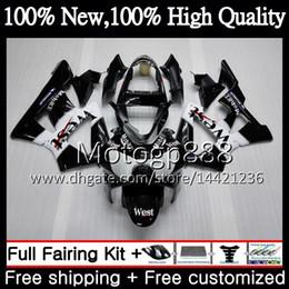 Honda Cbr929 Australia - Body For HONDA CBR900 RR CBR 929RR Black west CBR 900RR CBR929RR 00 01 54PG16 CBR 929 RR CBR900RR CBR929 RR 2000 2001 Fairing Bodywork