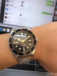 2020 moda para hombre de lujo tudorrr 39mm mira el reloj de los hombres del reloj de la bahía negro movimiento mecánicoTudor00 reloj [no fuera lana cobertizo] D2100 en venta