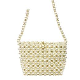 Beaded Designs Australia - good quality Women Pearl Bag Korean Design Handmade Beaded Woven Bag Female Evening Sac Shoulder Messenger Bags Bolsa Feminina