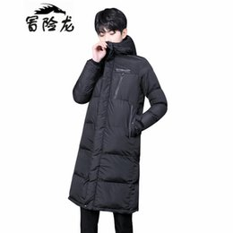 mens long padded down parka Australia - 2018 Winter Men Down Jacket Parka Clothing Jackets Mens Long Section Coat Male Parkas Hooded Outwear Cotton-padded Jacket