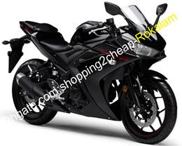$enCountryForm.capitalKeyWord Australia - R3 R 3 ABS Motorcycle Kit For Yamaha R25 R 25 2015 2016 Sport Moto Body work Black Fairing Aftermarket Kit (Injection molding)